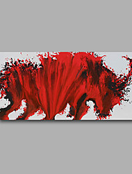 "Stretched (Ready to hang) Hand-Painted Oil Painting 40""x20"" Canvas Wall Art Modern Abstract Red Animals"