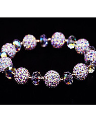 Strand Bracelets 1pc,White Bracelet Vintage Circle 514 Crystal Jewellery