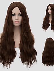 European fashion hot new oblique bangs long curly hair.