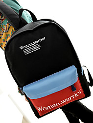 Women Canvas Letters Printed Sports Casual Outdoor Backpack School Travel Bag