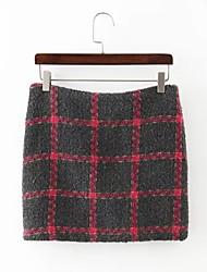 Damen Röcke - Street Schick Übers Knie Wolle / Baumwolle Mikro-elastisch