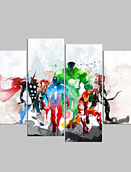 4 Panels The Avengers Modern Art Canvas Wall Paintings Cuadros Decorativos Canvas Prints Paintings For Living Room Wall