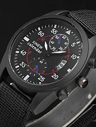 Hombre Reloj Deportivo / Reloj Militar / Reloj de Vestir / Reloj de Moda / Reloj de Pulsera Cuarzo Calendario Tejido BandaCosecha / Cool