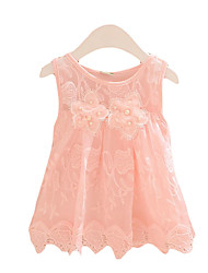 Girl's Casual/Daily Solid Dress,Rayon Summer Blue / Pink / White