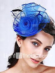 Women's Feather / Net Headpiece-Wedding / Special Occasion Fascinators 1 Piece