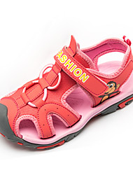 Boy's / Girl's Sandals Summer Comfort Tulle Casual Flat Heel Magic Tape Yellow / Pink / Royal Blue