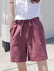Damen Hose - Einfach Loser Schnitt / Kurze Hose Baumwolle Mikro-elastisch