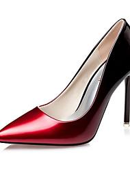 Damen-High Heels-Lässig-Lackleder-StöckelabsatzSchwarz Silber Fuchsia Wein