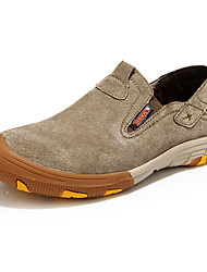 Men's Oxfords Spring / Fall Comfort Cowhide Casual Flat Heel Stitching  Blue / Brown / Yellow Walking