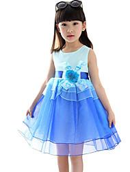 Vestido Chica de-Noche-Un Color-Algodón-Verano-Azul / Rosa
