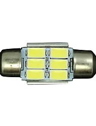 10шт чистый белый Шина CAN 31mm 5630 6SMD гирлянда купол карту интерьер Светодиодные лампы DE3175