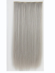 Clip In Hair Extensions 120g 5clips 24inch 60cm Long Straight Soft Natural Clip On Hair Extensions Heat Resistant