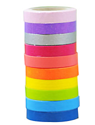 Two Roll of Twenty  paper And Paper Tape 0.75 * 5 Fine Packaging Shredded Fresh And Lovely Candy Color Specials