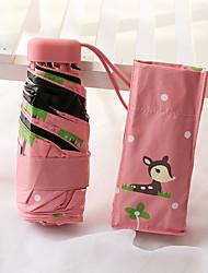 Зеленый / Синий / Розовый Складные зонты Зонт от солнца / Солнечный и дождливой / От дождя Металл / текстиль / силиконовыйАксессуары на