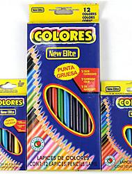 12 круглый стержень цветной карандаш