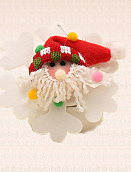 1pc Santa Claus Snowflake Ornament Christmas Tree Pendant Decoration Home Outdoor Party Supplies