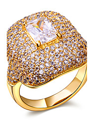 Clear stone ring New deisign ring with stone Made with aaa Cubic Zirconia Pave Setting Lead Free