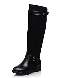 Women's Boots Fall / Winter Motorcycle Boots / Round Toe Dress Low Heel Buckle Black / Blue / Brown Others