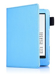 6 Inch Lichee Pattern PU Leather Case with Sleep for New Kindle (Kindle 558) (Assorted Colors)