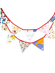 3.2m 12 Flags Funny Banner Pennant  cotton Bunting Banner Booth Props Photobooth Birthday Wedding Party Decoration