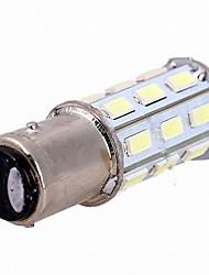 10pcs 1157-27smd-5630 Lampada lampadina retromarcia / luce di posizione posteriore / luce freno dc12v bianca