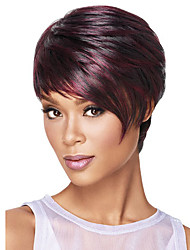 Ms Fashion in Europe And The Short Hair Wine Red Points 4 Inch