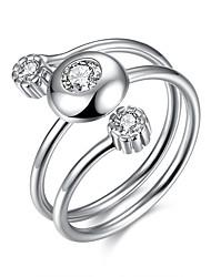 Ringe Sexy / Modisch Hochzeit / Party / Alltag / Normal Schmuck Sterling Silber Damen Statementringe 1 Stück,Verstellbar Silber