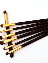 7Pcs Professional Eyeshadow Brush,Silver/Gold  Makeup Brushes Set,Eye Make up Cosmetic Brush