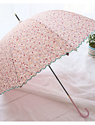 Lace Small Suihua Garden Temperament Long Umbrella Lady Umbrella Sunshade Uv Sunscreen
