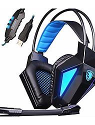 Sades SA-710 Casques (Bandeaux)ForLecteur multimédia/Tablette / OrdinateursWithAvec Microphone / DJ / Règlage de volume / Radio FM / Jeux
