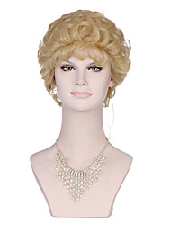 Blonde Color Curly Women Fashion European and American Synthetic Wigs