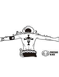 une seule pièce la personnalité d'animation autocollants de bande dessinée autocollants de voiture autocollants de voiture 60cm, vulcan