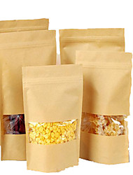 Kraft Kraft Windows Standing Ziplock Bags Sealed Food Bags Of Nuts A Pack Of Ten Tea Bags
