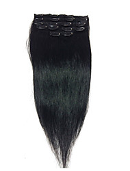 "18 ""# 1 clip in echte remy human hair extensions 8pcs / 80g"