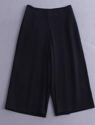 einfache Demo Frauen solid pink / weiß / schwarz breite Beinhosen, vintage