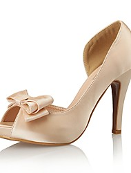 Women's Shoes Silk Peep Toe / Platform / Styles Heels Wedding / Party & Evening / Dress Stiletto Heel