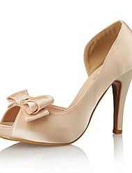 Women's Shoes Silk Peep Toe / Platform / Styles Heels Wedding / Party & Evening / Dress Stiletto Heel