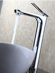 Bathroom Sink Faucet, Deck Mounted / Contemporary Design / 360 Degree Rotation / Chrome Finish