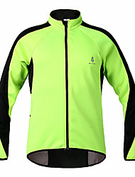 WOLFBIKE Winter Fleece Thermal Windproof Cycling Long Sleeve Jacket - Green