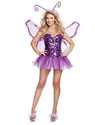 Costumes Déguisements d'animaux / Ange et Diable Halloween / Noël / Carnaval / Nouvel an Violet Vintage Térylène Robe