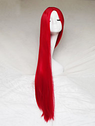 Cosplay Wig Red Color Carve One Meter Long Straight Hair Wig