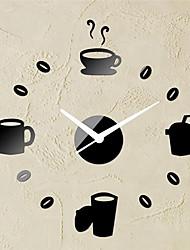 Moderne/Contemporain Autres Horloge murale,Rond Plastique 40*40 Intérieur Horloge