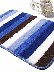 "Casual Style 1PC Polypropylene  Bath Rug 15"" by 23"" Stripe Pattern"