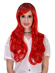 Red gradually long hair wig.WIG LOLITA, Halloween Wig, color wig, fashion wig, natural wig, COSPLAY wig.