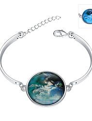 Bracelet Charmes pour Bracelets / Bracelets Rigides Argent sterling / Émeraude Forme Ronde Bohemia style / Style Punk / AjustableMariage