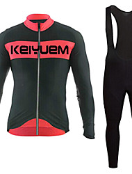 KEIYUEM®Spring/Summer/Autumn Long Sleeve Cycling Jersey+Long Bib Tights Ropa Ciclismo Cycling Clothing Suits #L78
