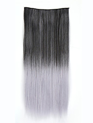 Synthetic ombre clip in hair extensions Hairpieces colorful hair two tones 24inch 120 5Clips straight hair extentions