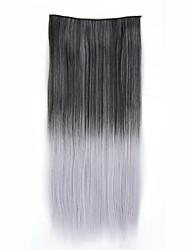 clip ombre synthétique dans les extensions de cheveux postiches cheveux colorés deux tons 24inch 120 5clips des extentions de cheveux