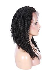 petite perruque bouclée 8-26 pouces 1 # 100% couleur brazilian dentelle de cheveux humains perruque avant avec les cheveux de bébé
