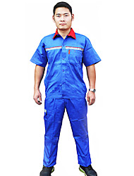Gas Station Anti-Static Overalls Short-Sleeved Frock Blue Reflective Vvests Petrochemical Suit